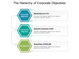The Hierarchy Of Corporate Objectives