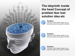 The Labyrinth Inside The Head Concept Of Problem Fear Lost Solution Idea Etc