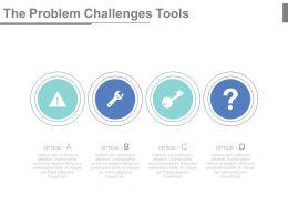 The Problem Challenges Tools Ppt Slides