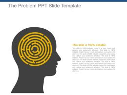 The Problem Ppt Slide Template