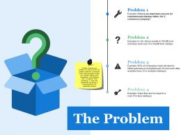 The Problem Ppt Summary Infographics