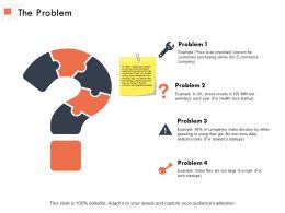 The Problem Solution Ppt Powerpoint Presentation Outline Sample