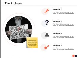 The Problem Solution Ppt Powerpoint Presentation Visual Aids Diagrams