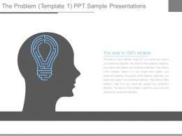The Problem Template1 Ppt Sample Presentations