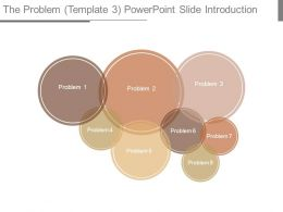 The Problem Template 3 Powerpoint Slide Introduction