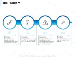 The Problem Threat Ppt Powerpoint Presentation Visual Aids Icon