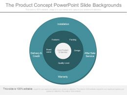 The Product Concept Powerpoint Slide Backgrounds