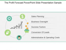 The Profit Forecast Powerpoint Slide Presentation Sample