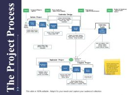 The Project Process Ppt Powerpoint Presentation Model Example Introduction