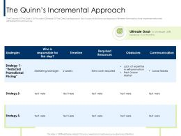The Quinns Incremental Approach Extra M2077 Ppt Powerpoint Presentation Styles Design Inspiration