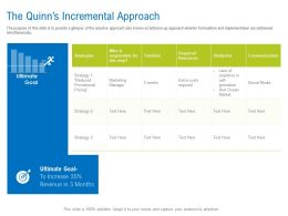 The Quinns Incremental Approach Timeline Ppt Powerpoint Example File