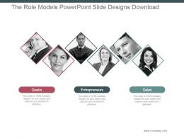The Role Models Powerpoint Slide Designs Download