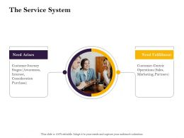 The Service System Journey Ppt Powerpoint Presentation Infographic Template Tips