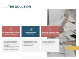 The Solution Accounts Payable Services Ppt Powerpoint Presentation Icon