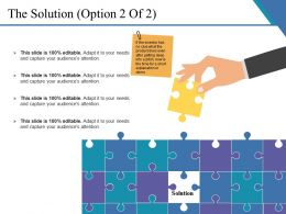 The Solution Example Of Ppt Presentation