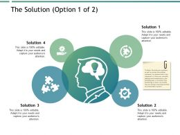 The Solution Mind Map Ppt Powerpoint Presentation Show Example Topics