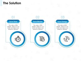 The Solution Money Ppt Powerpoint Presentation Visual Aids Backgrounds