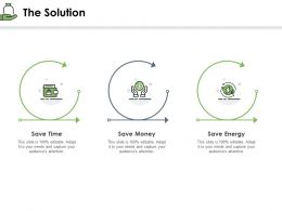 The Solution Money Time Ppt Powerpoint Presentation Show Graphics Pictures