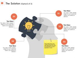 The Solution Option Marketing Ppt Powerpoint Presentation Outline Slide