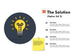 The Solution Option Planning Ppt Powerpoint Presentation Outline Show