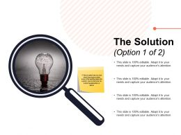 The Solution Option Ppt Powerpoint Presentation Visual Aids Example 2015