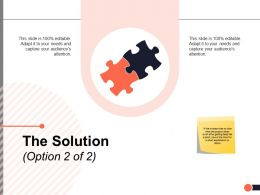 The Solution Option Problem Ppt Powerpoint Presentation Visual Aids Example File