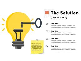 The Solution Option Technology Ppt Powerpoint Presentation Outline Shapes