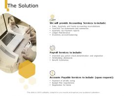 The Solution Provide Accounting Ppt Powerpoint Presentation Pictures Graphics Tutorials