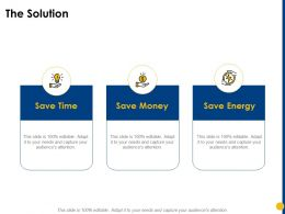 The Solution Save Money Ppt Powerpoint Presentation Show Samples