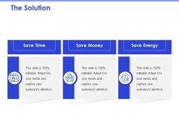 The Solution Save Time Ppt Powerpoint Presentation Slides Design Inspiration