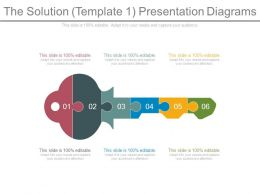The Solution Template1 Presentation Diagrams