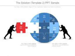 The Solution Template2 Ppt Sample