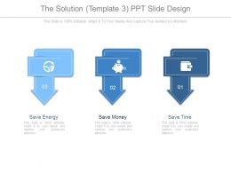 The Solution Template3 Ppt Slide Design