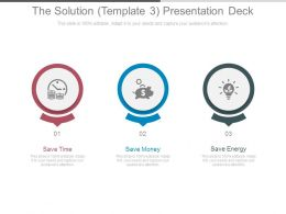 The Solution Template3 Presentation Deck