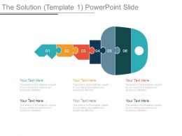 The Solution Template 1 Powerpoint Slide