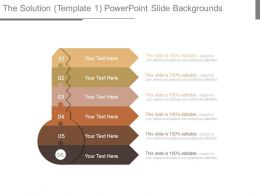 The Solution Template 1 Powerpoint Slide Backgrounds