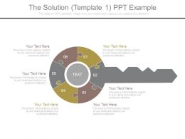 The Solution Template 1 Ppt Example