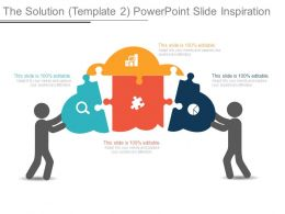 The Solution Template 2 Powerpoint Slide Inspiration