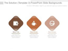 The Solution Template 3 Powerpoint Slide Backgrounds