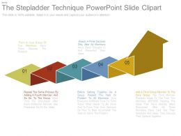 The Stepladder Technique Powerpoint Slide Clipart
