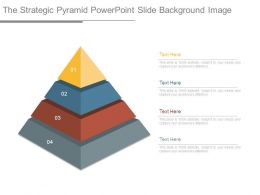 The Strategic Pyramid Powerpoint Slide Background Image