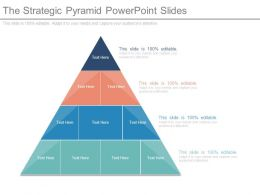 The Strategic Pyramid Powerpoint Slides