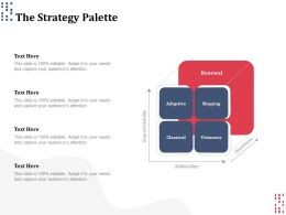 The Strategy Palette Ppt Powerpoint Presentation Slides Introduction