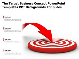 The Target Business Concept Powerpoint Templates Ppt Backgrounds For Slides