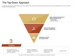 The Top Down Approach Decision Making Ppt Powerpoint Presentation Inspiration Master