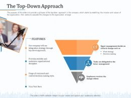 The Top Down Approach Management M2059 Ppt Powerpoint Presentation Infographic Template Design