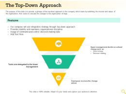 The Top Down Approach Organizational Discipline Ppt Powerpoint Presentation Designs