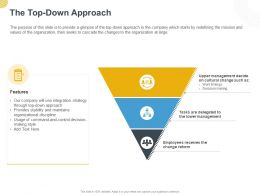 The Top Down Approach Ppt Powerpoint Presentation Styles Styles