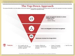 The Top Down Approach Reform Ppt Powerpoint Presentation Ideas Background Image