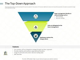 The Top Down Approach Usage Ppt Powerpoint Presentation Gallery Layout Ideas